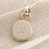 Personalised silver & Gold Necklace