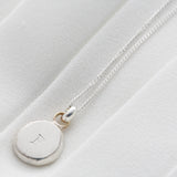Personalised Silver & 9ct Gold Initial Necklace