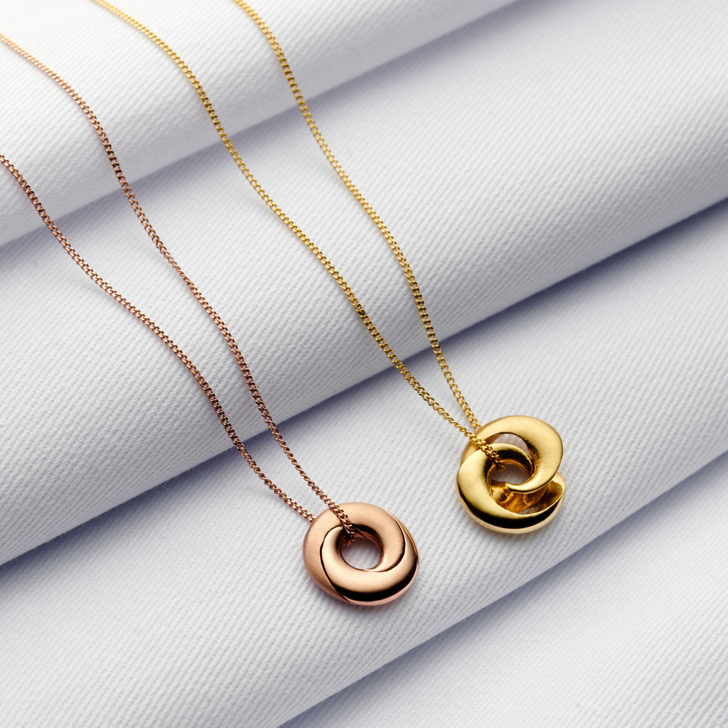 Mobius Infinity Personalised 9ct Gold Necklace