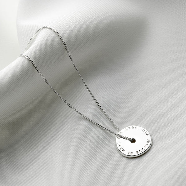 Personalised Spinner Nugget Necklace
