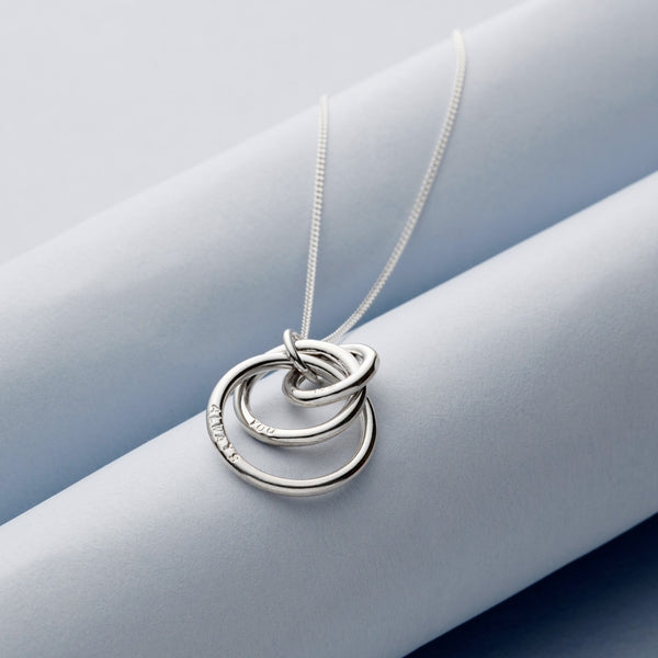 Personalised Three Russian Rings Necklace