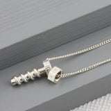 Baby Nut & Bolt Personalised Necklace