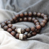 Personalised Mens Ebony & Silver Bracelet