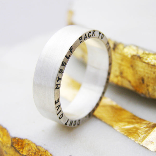 Chunky Personalised Silver Ring - Soremi Jewellery