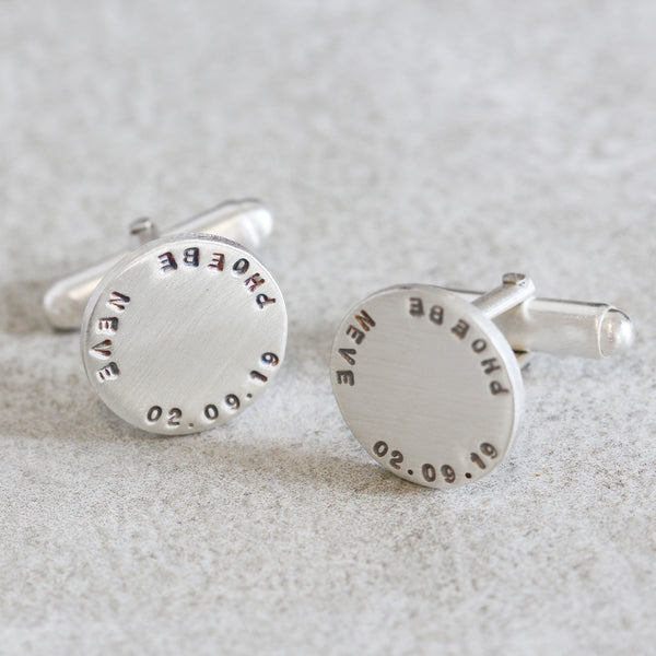 Personalised Disc Cufflinks