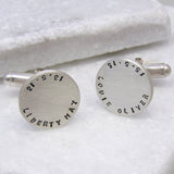 Personalised Disc Cufflinks - Soremi Jewellery