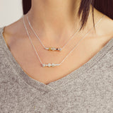 Personalised Silver & Gold Boulon D'amour Family Necklace - Soremi Jewellery