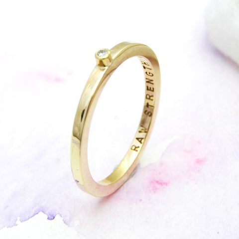 Personalised 9ct Yellow Gold Diamond Ring