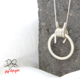 Help Refugees Sterling Silver Necklace