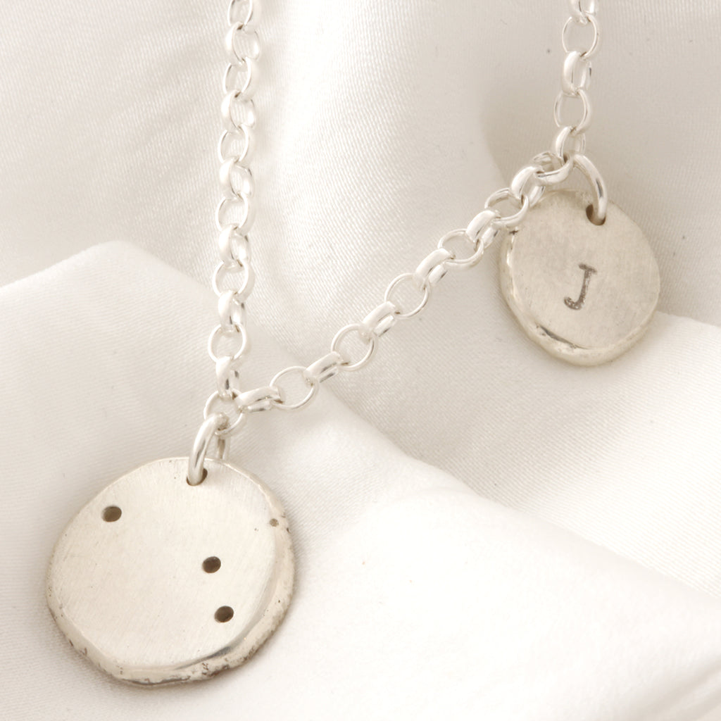 Personalised Constellation necklace with Initial Charm