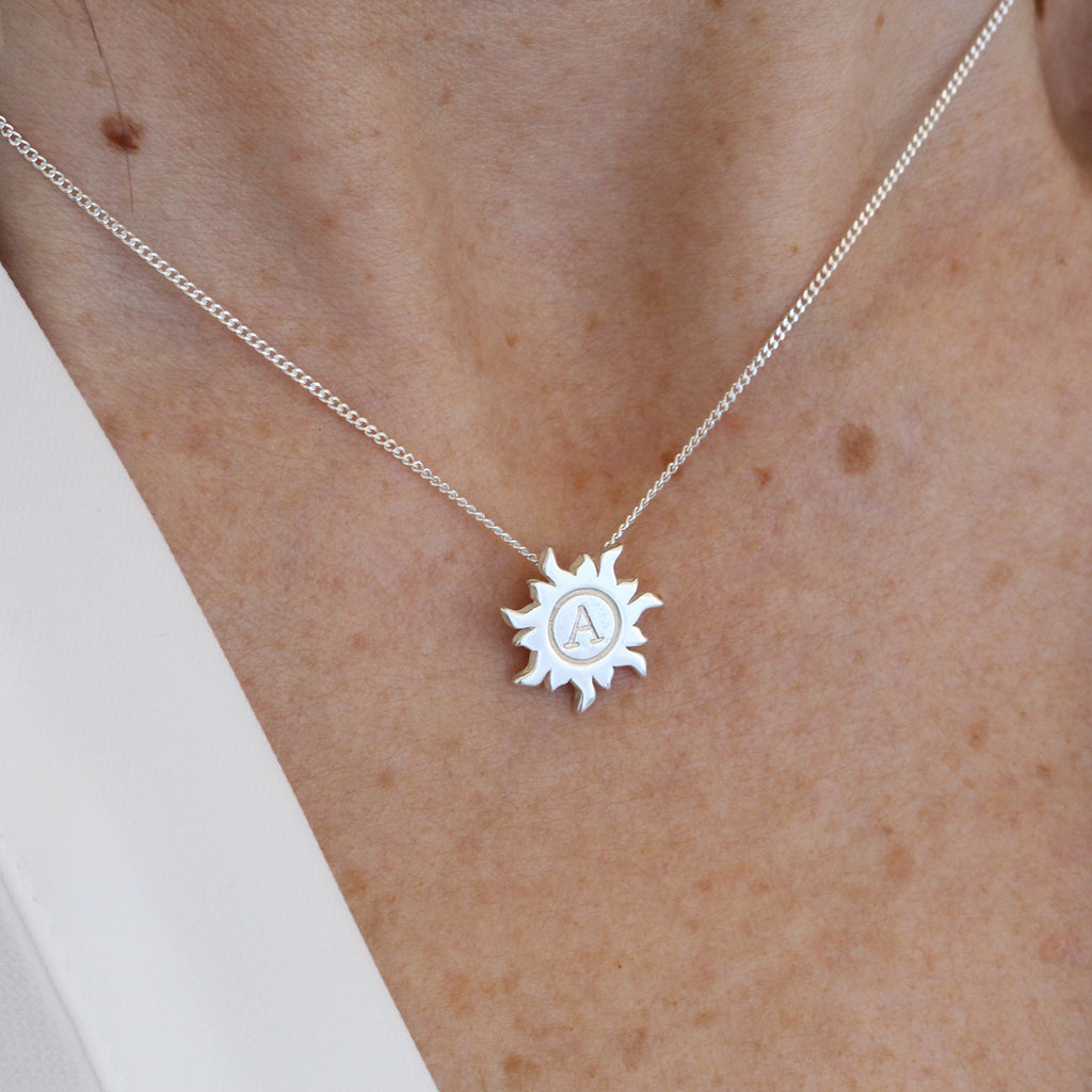 Personalised Initial Sun Necklace