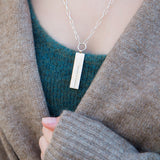 Personalised Tag Necklace With Paperclip Chain