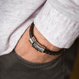 Personalised Silver Mens Rivet Bracelet