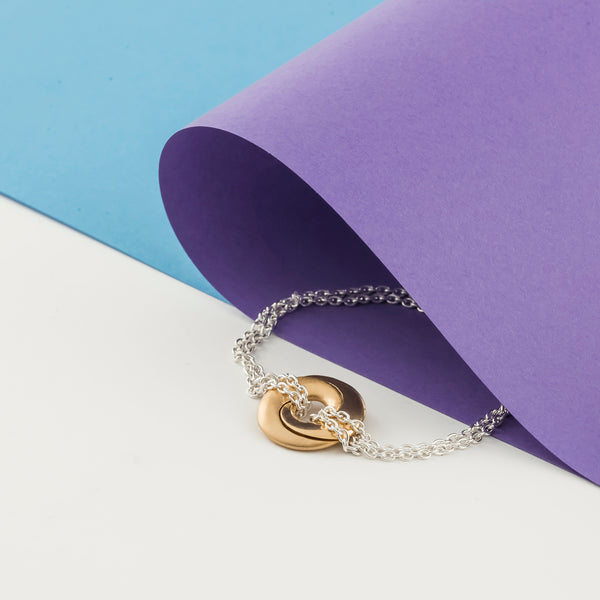 Mobius Infinity Personalised Gold & Silver Bracelet - Soremi Jewellery