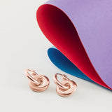 Rose Gold Mobius Infinity Personalised Hoop Earrings - Soremi Jewellery