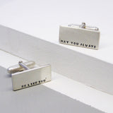 Classic Silver Personalised Mens Cufflinks - Soremi Jewellery