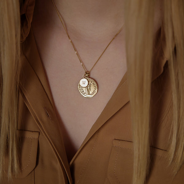 Personalised Gold Goddess Necklace