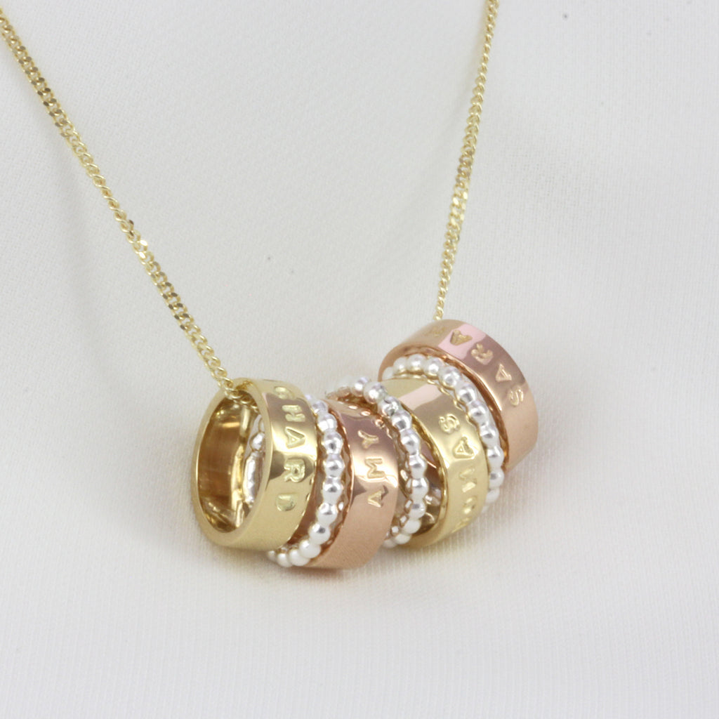 Yellow And Rose Gold Hoop Necklace