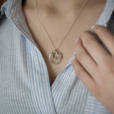 Personalised Russian Rings Necklace