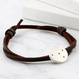 Mens Leather Constellation Bracelet