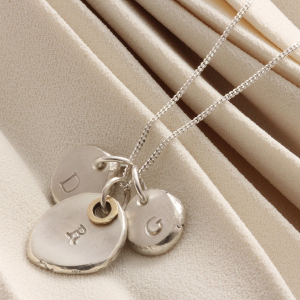 Personalised Family Initial Nugget Necklace