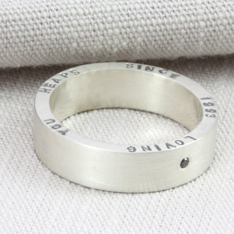 Chunky Personalised Silver Ring
