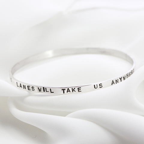 Personalised Sterling Silver Narrative Bangle
