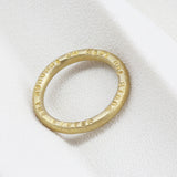 Personalised 9ct Gold Stackable Ring