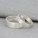 Matching Personalised Silver Rings