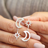 Unique star earrings for her