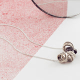 Personalised Contemporary Scroll Necklace with Oxidisation - Soremi Jewellery