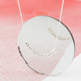 Silver Personalised Scroll 'Smile' Necklace - Soremi Jewellery