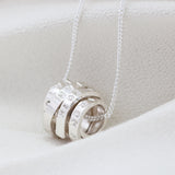 Personalised Silver Scroll Necklace