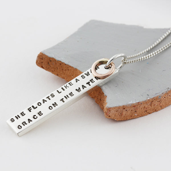 Personalised ID Necklace with Rose Gold