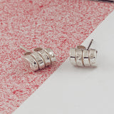 Personalised Silver Scroll Stud Earrings - Soremi Jewellery