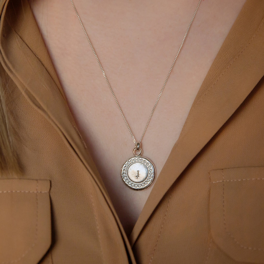 Personalised Silver Medallion Pendant