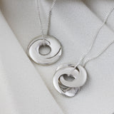 Personalised Interlinking Hoops Necklace