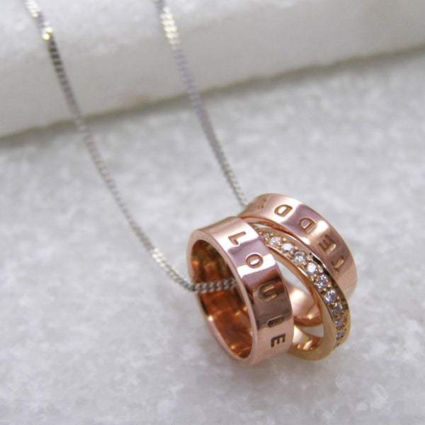 Personalised Rose Gold & Diamond Pendant - Soremi Jewellery