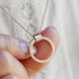 Personalised 9ct Rose Gold Necklace