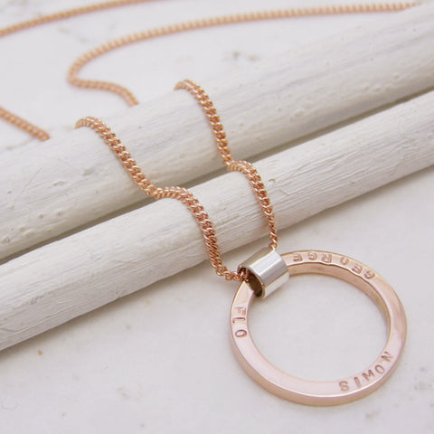 Personalised 9ct Rose Gold Pendant