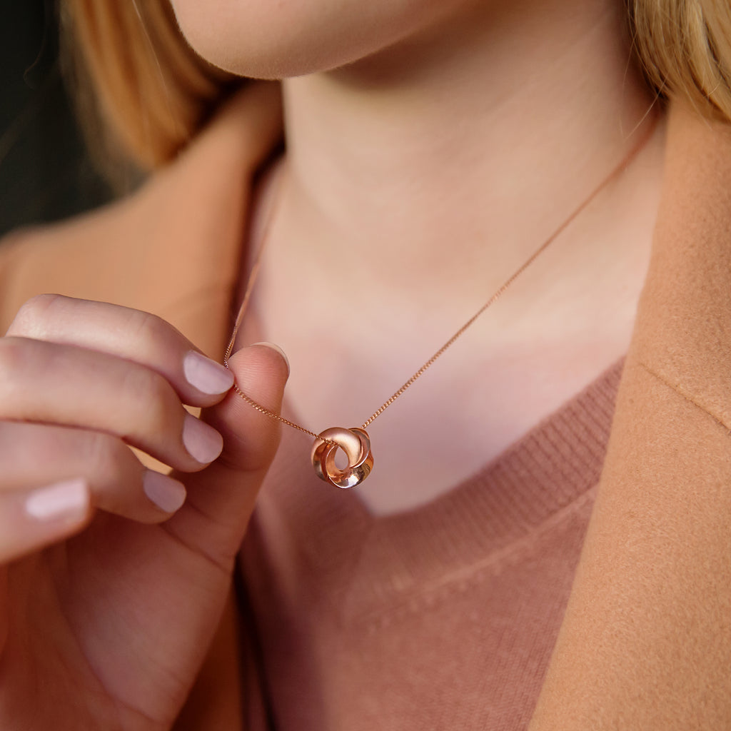 Mobius Infinity Personalised Rose Gold Necklace