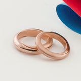 Mobius Infinity Personalised Rose Gold Wedding Bands - Soremi Jewellery