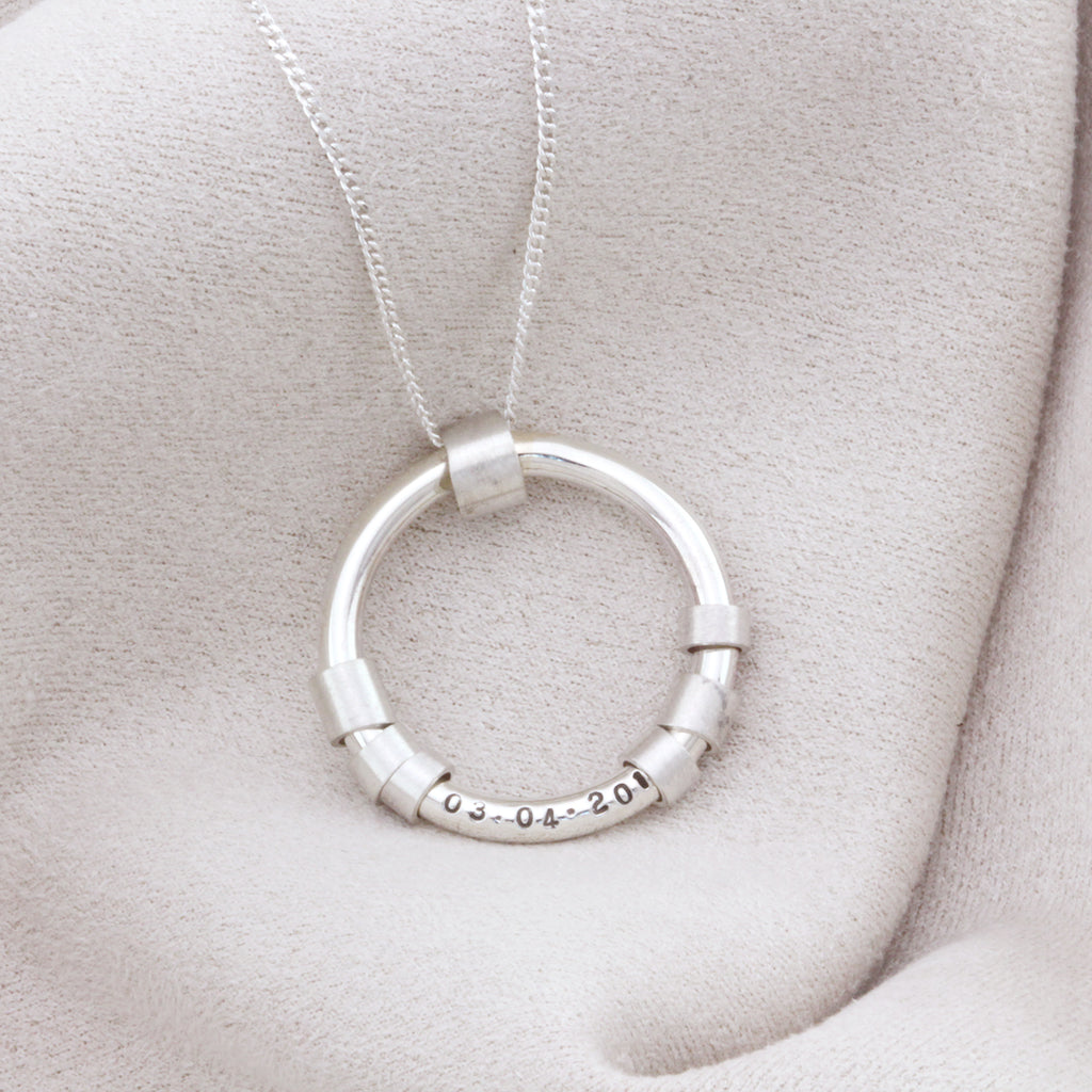 Silver hidden message necklace