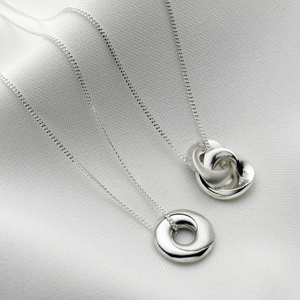Silver Mobius Infinity Personalised Necklace