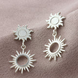 Sterling Silver Sun Drop Earrings