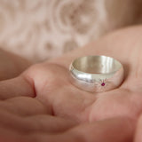 Personalised Silver & Gemstone Sun Burst Ring