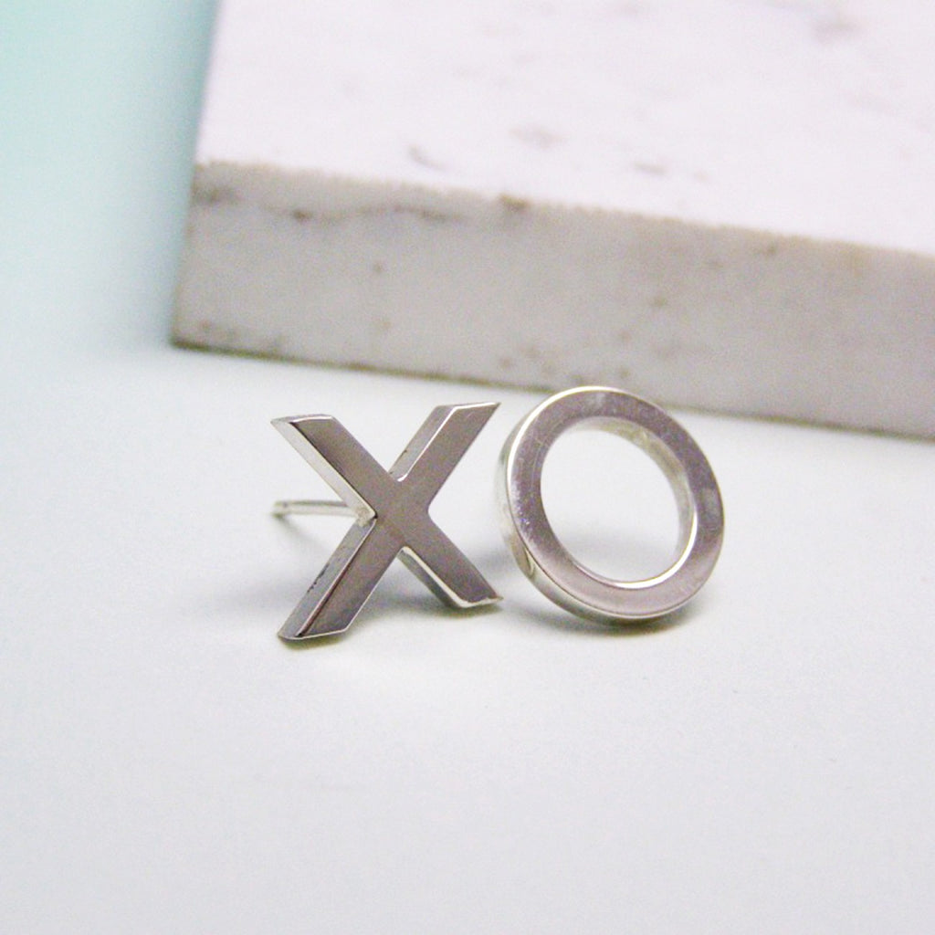 Sterling Silver Xo Earrings - Soremi Jewellery
