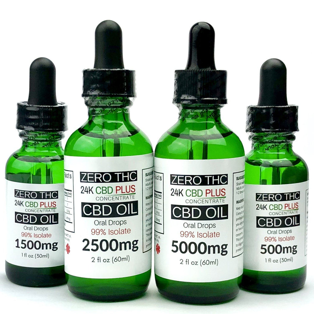 500mg, 1500mg, 2500mg, 5000mg CBD Oil 99% Isolate Oral Drops PEACH , MANGO , ETC