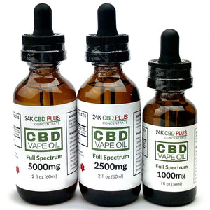 Full Spectrum CBD, CBG, CBN Multi Cannabinoid Vape Oil + Omega 3 Amino Acids