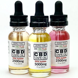 "NEW ""Limited Gold Edition"" Refined Distilled  30ml - 2500mg Or 5000mg 99.6%  Pure Nano CBD ISOLATE 0% THC  Vape Oil"